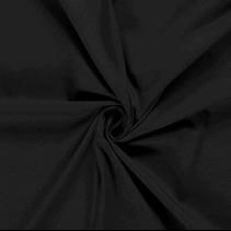 Tricot effen zwart (per 10cm)
