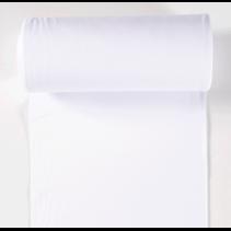 Boordstof effen wit (per 10cm)