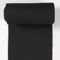 Boordstof effen zwart (per 10cm)