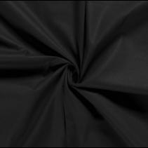 Poplin effen zwart (per 10cm)