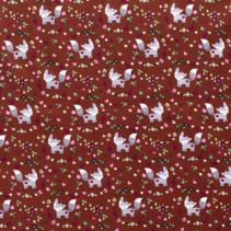 Poplin vosjes rood (per 10cm)