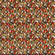 Poplin abstract vintage donkergroen (per 10cm)