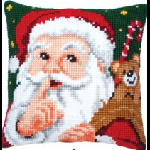 Kruissteekkussen kerstman