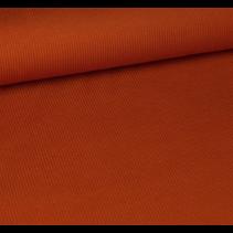 Ribbelstof  oranje 135cm(per 10cm)