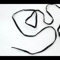 Platte elastiek 5mm Zwart