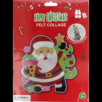 vilt collage Kerstmis Kerstman