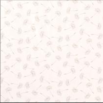 Tricot paardebloemen ecru (per 10cm)