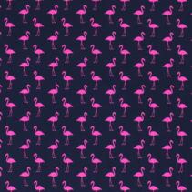 Tricot Flamingo navy  (per 10cm)