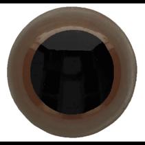 Veiligheidsogen tweekleurig (bruin) 8mm