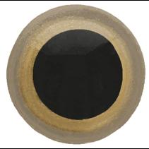 Veiligheidsogen tweekleurig (goud) 15mm