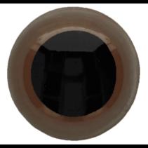 Veiligheidsogen tweekleurig (bruin) 14mm