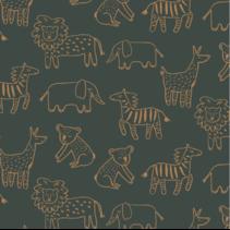 Soft Sweat GOTS Happy Animals(per 10cm)