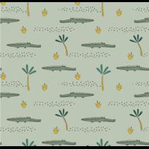 Jersey GOTS Crocodile(per 10cm)