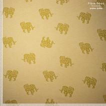 Knit co/pl jacquard tiger 11  (per 10cm)