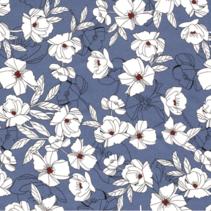 Chiffon stof bedrukt met bloemen
