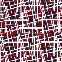 Jersey stof bedrukt met abstrakt