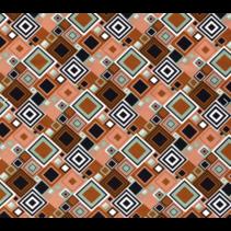 Jersey stof bedrukt met abstrakt Brique