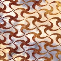 Jersey stof met sterren in de kleur brique
