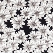 Krip stof bedrukt met bloemen Navy