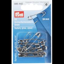 Veiligheidsspelden zilverkleurig staal 23mm