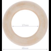 Houten ringen naturel buitenmaat 85mm