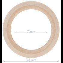 Houten ringen naturel buitenmaat 100mm