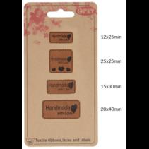 Skai-leren labels Handmade with love