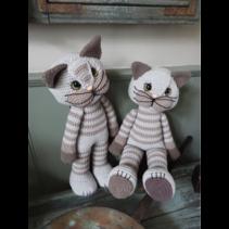 XXL Funny Pussycat basic grijs (staand of zittend)