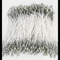 Meeldraadjes 1mm Zilver (per zakje 144 stuks)