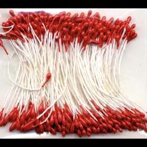 Meeldraadjes 1mm Rood  (per zakje 144 stuks)