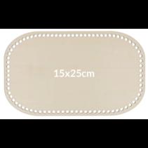 Tasbodem hout 21x25cm beige