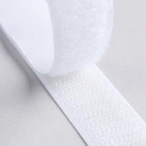 Klittenband plakbaar haak en lus 20mm wit (per 10cm)