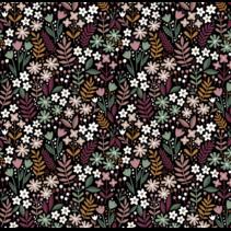poplin brushed flowers (per 10cm)