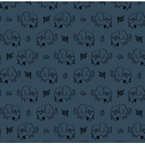 soft sweat gots elephant (per 10cm)