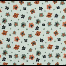 double gauze gots flowers  (per 10cm)