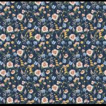 jersey gots digital flowerfield (per 10cm)