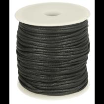 Waxkoord zwart (per meter) 2mm