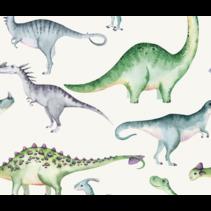 Tricot stof digitaal dinosaurus