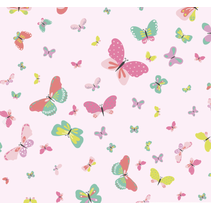 Tricot stof bedrukt met vlinders