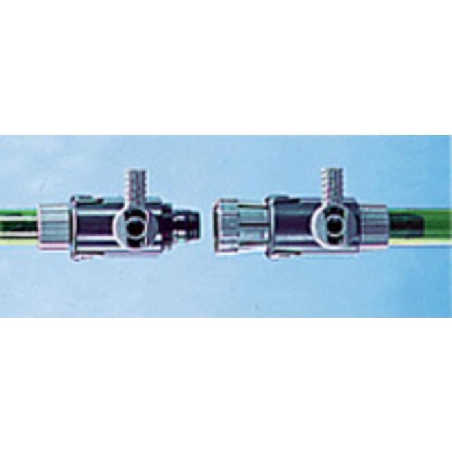 Eheim 2 kranen met snelkoppeling 12/16 mm