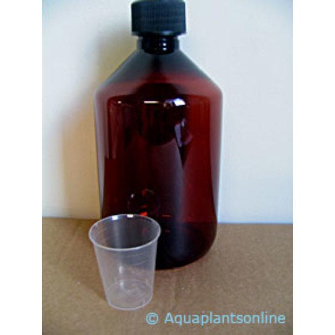 APO donkere fles 500 ml + maatbekertje voor stockoplossingen
