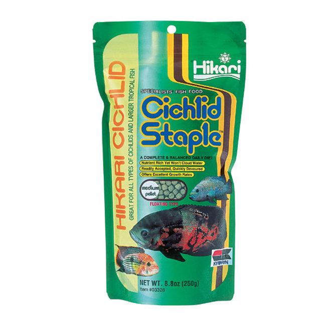 Hikari Cichlid Staple Medium pellet 250 gram, drijvende pellets