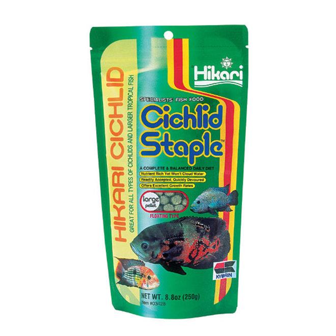 Hikari Cichlid Staple Large pellet 250 gram, drijvende pellets