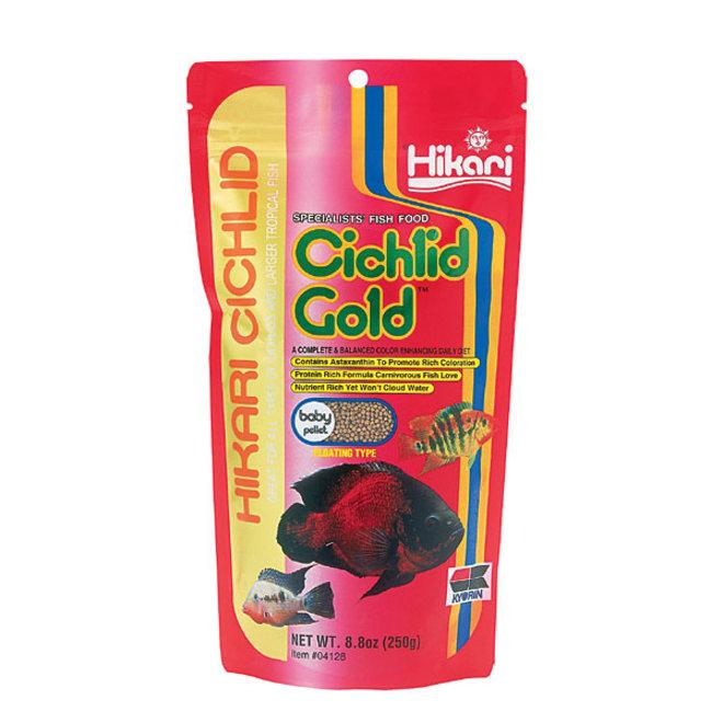 Hikari Cichlid Gold Baby pellet 250 gram, drijvende pellets