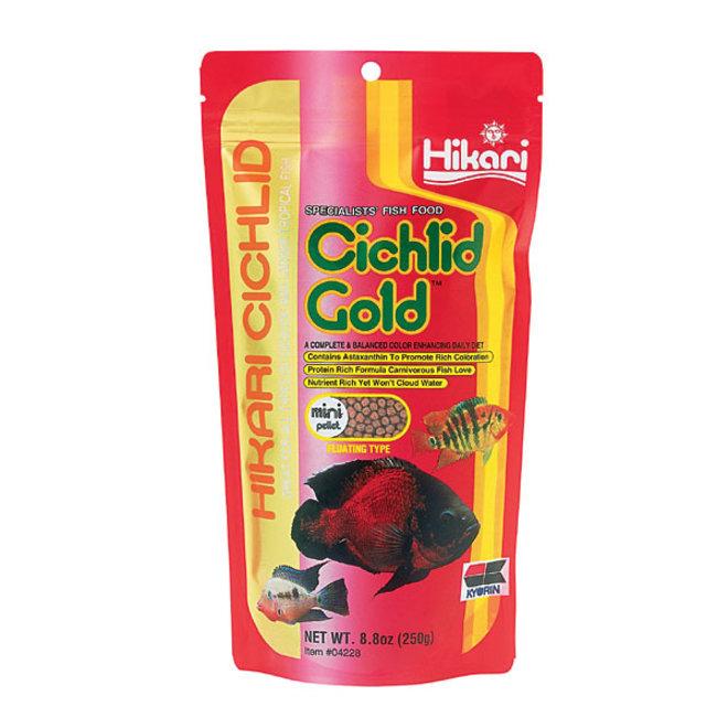 Hikari Cichlid Gold Mini pellet 250 gram, drijvende pellets