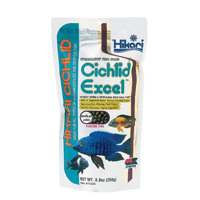 Hikari Cichlid Excel Medium pellet 250 gram, drijvende pellets