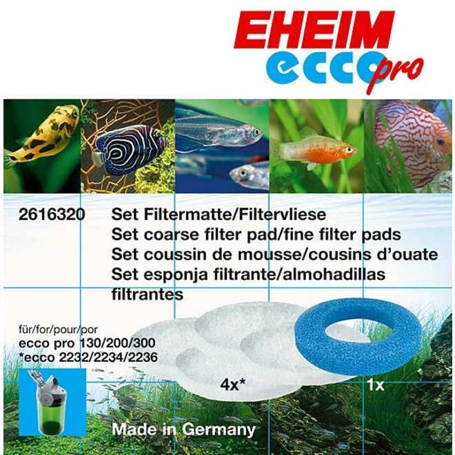 Eheim filterschijf set blauw/wit 2616320, voor Ecco Pro 130/200/300