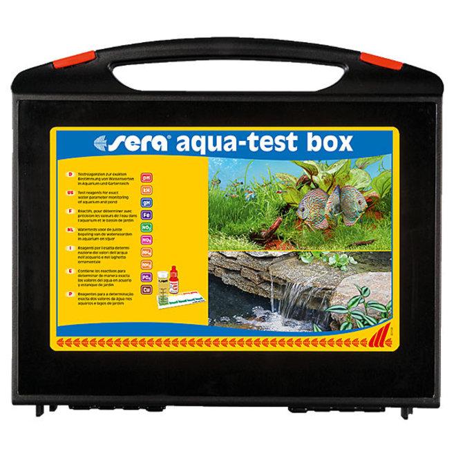 Sera Aqua test box + Cu, testkoffer