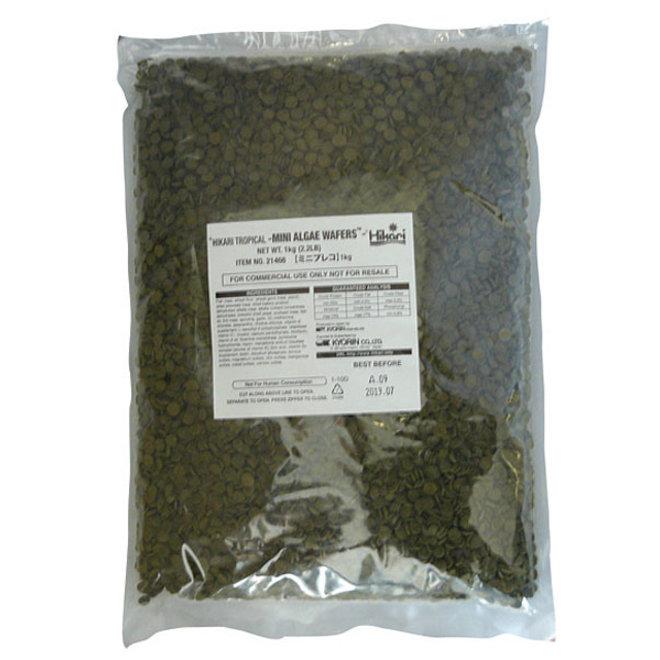 Hikari Tropical Mini Algae Wafers 1 kg, zinkende wafers
