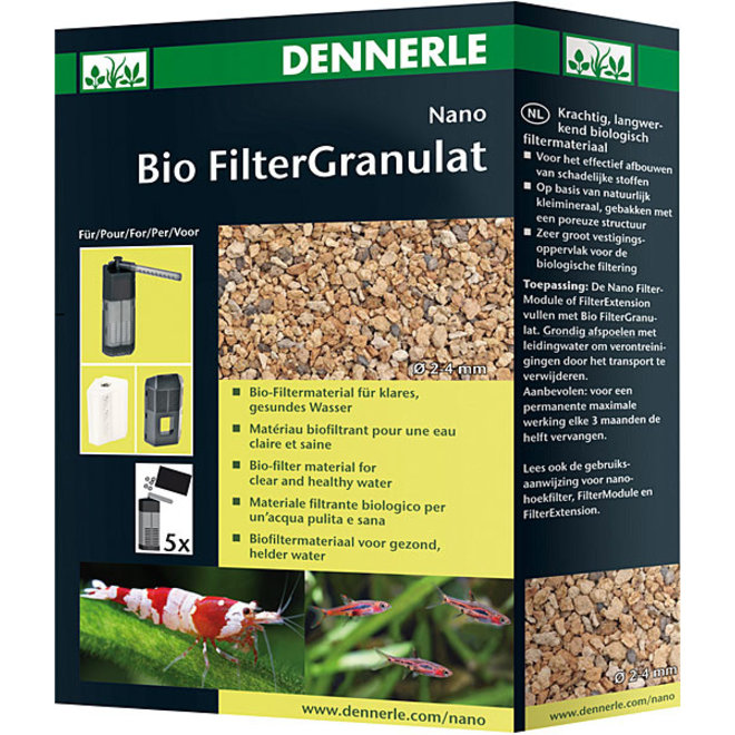 Dennerle Nano Bio Filtergranulaat 300 ml, voor helder water
